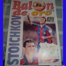 Coleccionismo deportivo: STOICHKOV BALON DE ORO PIN Y CARTON SPORT 1994 FUTBOL . Lote 83011456