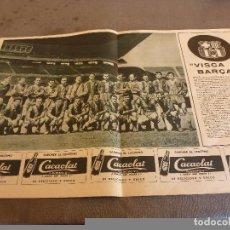 Coleccionismo deportivo: (54CM X 35CM)POSTER ORIGINAL-F.C.BARCELONA CAMPEÓN LIGA 58-59 CON FIRMAS IMPRESAS JUGADORES BARÇA.. Lote 84354200