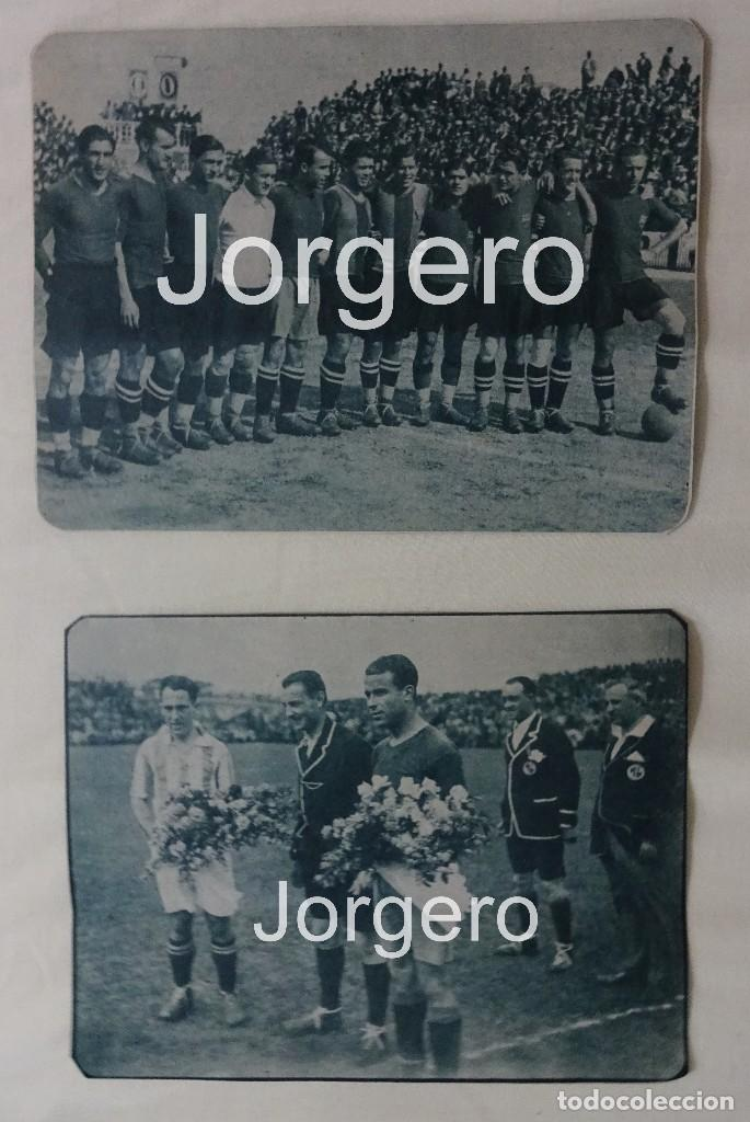 F.C. BARCELONA. LOTE 2 RECORTES CAMPEÓN COPA DEL REY 1927-1928 EN EL SARDINERO CONTRA R. SOCIEDAD. (Coleccionismo Deportivo - Carteles de Fútbol)