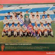 Coleccionismo deportivo: MINI POSTER REAL ZARAGOZA 89/90 - AS COLOR PLANTILLA LIGA TEMPORADA 1989/1990 FUTBOL. Lote 85848876