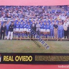 Collectionnisme sportif: MINI POSTER REAL OVIEDO 92/93 REVISTA DON BALON PLANTILLA LIGA TEMPORADA 1992/1993 FUTBOL. Lote 86535044