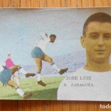 Coleccionismo deportivo: FHER DISGRA 1962 1963 62 63 JOSE LUIS, REAL ZARAGOZA. Lote 86630200