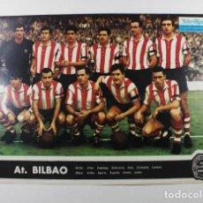 Colecionismo desportivo: ATLETIC BILBAO. 1967, FUTBOL CARTEL POSTER TELE EXPRES 33,50 X 24 CM PUBLICIDAD AL DORSO DE PHILCO. Lote 87075044