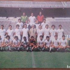 Coleccionismo deportivo: EXCEPCIONAL POSTER ORIGINAL DE EPOCA DEL REAL MADRID 1980 - 81 . FIRMADO POR LOS JUGADORES.. Lote 129088599