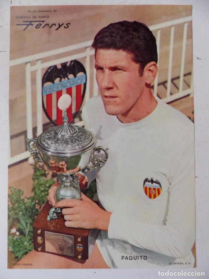 VALENCIA C.F. - 15 CARTELES FUTBOLISTAS, AÑOS 1970 FINEZAS - FERRYS, PUNTOLINK, MUEBLES FLORES (Coleccionismo Deportivo - Carteles de Fútbol)