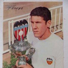 Coleccionismo deportivo: VALENCIA C.F. - 15 CARTELES FUTBOLISTAS, AÑOS 1970 FINEZAS - FERRYS, PUNTOLINK, MUEBLES FLORES. Lote 116622263