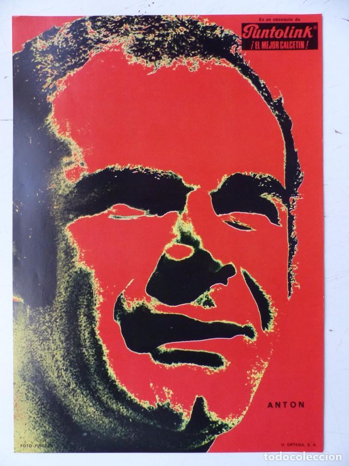 Coleccionismo deportivo: VALENCIA C.F. - 15 CARTELES FUTBOLISTAS, AÑOS 1970 FINEZAS - FERRYS, PUNTOLINK, MUEBLES FLORES - Foto 2 - 116622263