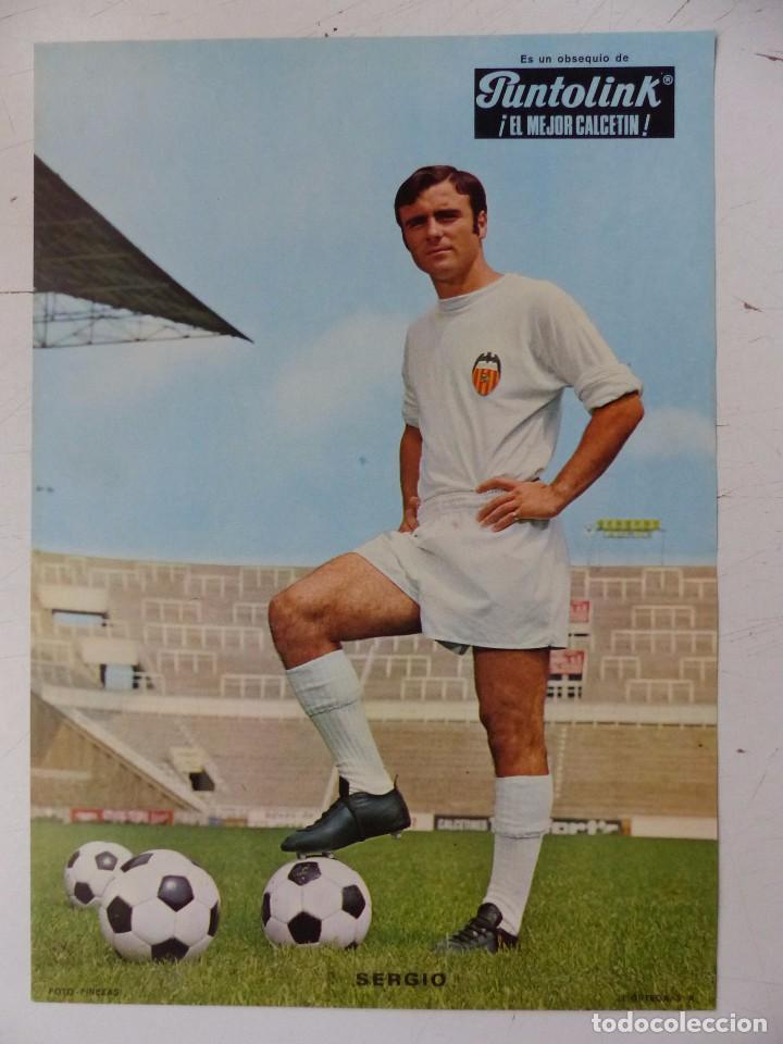 Coleccionismo deportivo: VALENCIA C.F. - 15 CARTELES FUTBOLISTAS, AÑOS 1970 FINEZAS - FERRYS, PUNTOLINK, MUEBLES FLORES - Foto 6 - 116622263