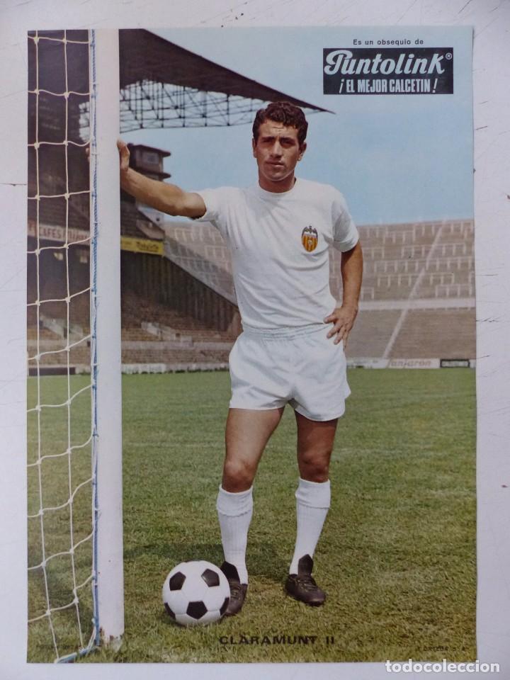 Coleccionismo deportivo: VALENCIA C.F. - 15 CARTELES FUTBOLISTAS, AÑOS 1970 FINEZAS - FERRYS, PUNTOLINK, MUEBLES FLORES - Foto 7 - 116622263