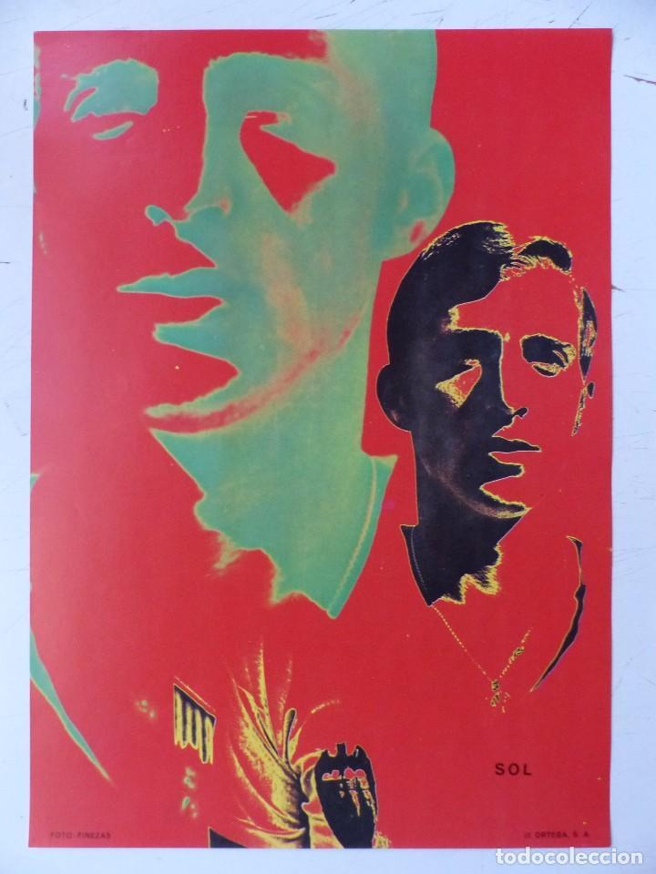 Coleccionismo deportivo: VALENCIA C.F. - 15 CARTELES FUTBOLISTAS, AÑOS 1970 FINEZAS - FERRYS, PUNTOLINK, MUEBLES FLORES - Foto 9 - 116622263