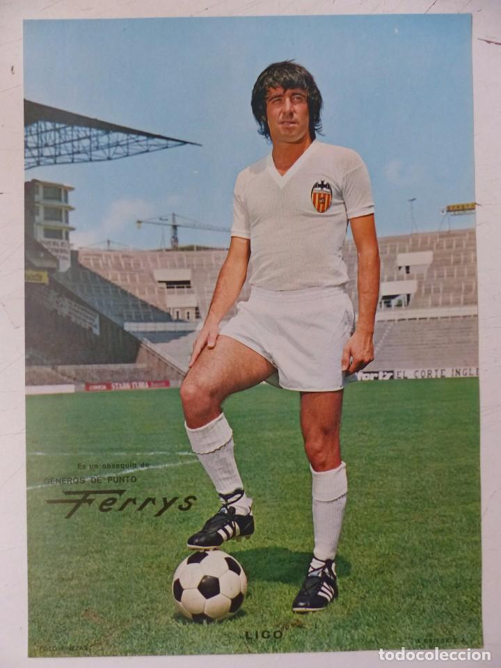 Coleccionismo deportivo: VALENCIA C.F. - 15 CARTELES FUTBOLISTAS, AÑOS 1970 FINEZAS - FERRYS, PUNTOLINK, MUEBLES FLORES - Foto 11 - 116622263