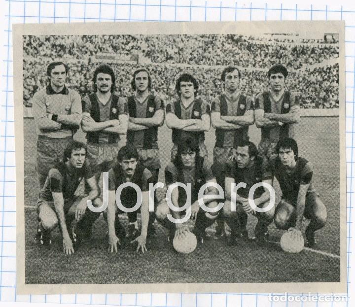 F.C. BARCELONA. ALINEACIÓN PARTIDO DE LIGA 1978-1979 EN LA ROMAREDA CONTRA EL ZARAGOZA. RECORTE (Coleccionismo Deportivo - Carteles de Fútbol)