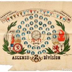 Coleccionismo deportivo: CARTEL DEL ASCENSO A 2ª SEGUNDA DIVISIÓN DE LA CULTURAL DEPORTIVA LEONESA. 6 JUNIO 1971 FUTBOL LEÓN. Lote 89176372