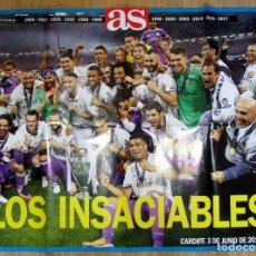 Coleccionismo deportivo: POSTER AS DUODECIMA 12 COPA EUROPA REAL MADRID UEFA CHAMPIONS LEAGUE 2017. Lote 137961340