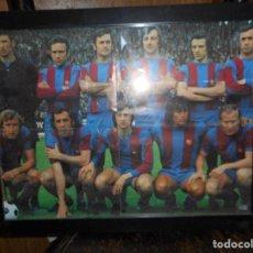 Coleccionismo deportivo: POSTER ENMARCADO FUTBOL CLUB BARCELONA EQUIPO EPOCA CRUYF. Lote 89387012