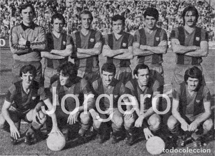 F.C. BARCELONA. ALINEACIÓN PARTIDO DE LIGA 1978-1979 EN EL RICO PÉREZ CONTRA EL HÉRCULES. RECORTE (Coleccionismo Deportivo - Carteles de Fútbol)