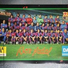 Coleccionismo deportivo - Cartel / Póster Fútbol Club Barcelona. Bon Nadal - Cerveza Estrella Dorada, Damm / Danone, 1980 - 89624952