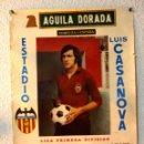 Coleccionismo deportivo: CARTEL, FUTBOL, CERVEZA AGUILA DORADA, VALENCIA CF, ATLETICO DE MADRID, BETIS, ESPAÑOL, 1977. Lote 90744035