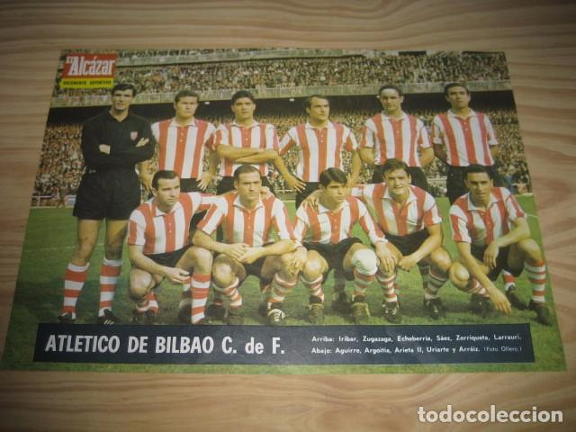 POSTER LAMINA FUTBOL ATLETICO DE BILBAO 1967. REVISTA EL ALCAZAR (Coleccionismo Deportivo - Carteles de Fútbol)
