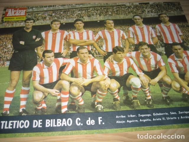 Coleccionismo deportivo: POSTER LAMINA FUTBOL ATLETICO DE BILBAO 1967. REVISTA EL ALCAZAR - Foto 2 - 91525625