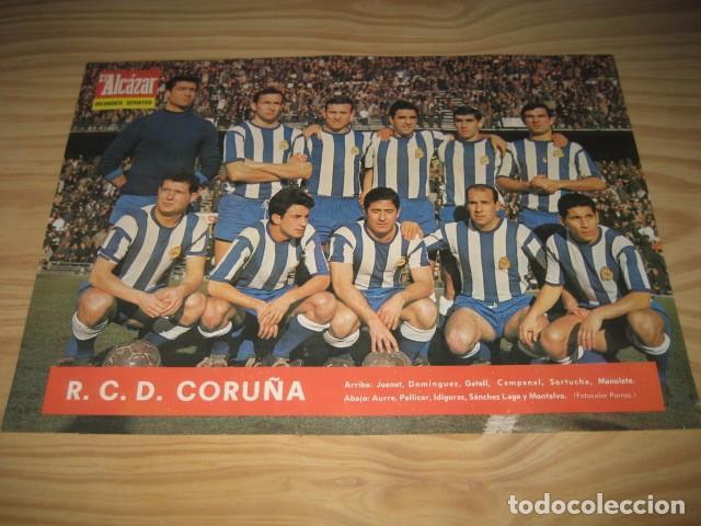 POSTER LAMINA FUTBOL R.C.D. CORUÑA 1967. REVISTA EL ALCAZAR (Coleccionismo Deportivo - Carteles de Fútbol)