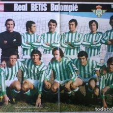 Coleccionismo deportivo: POSTER R. BETIS 74-75 LA ACTUALIDAD. Lote 92949355