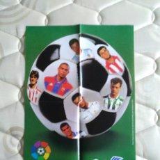 Coleccionismo deportivo: PÓSTER CRACKS LIGA 96-97 CHICLES VIDAL: RONALDO, KIKO, RIVALDO, ALFONSO, KARPIN, MIJATOVIC, GUERRERO. Lote 93049655