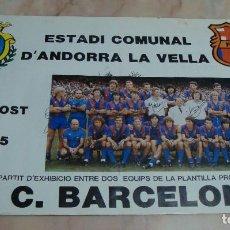 Coleccionismo deportivo: (ALB-TC-9) INTERESANTE CARTEL ESTADI ANDORRA 1983 BARCELONA JUGADORES MARADONA MIGUELI ORIGINAL. Lote 93199385