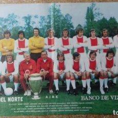 Coleccionismo deportivo: POSTER LA GACETA DEL NORTE. AJAX -CAMPEÓN DE EUROPA 1973-. Lote 93934240