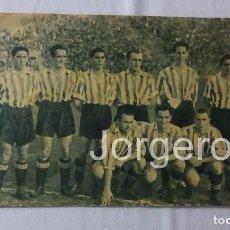 Coleccionismo deportivo: ATH. BILBAO. ALINEACIÓN PARTIDO DE LIGA 1943-1944 EN MADRID CONTRA AT. AVIACIÓN. MINI-PÓSTER. Lote 94088910