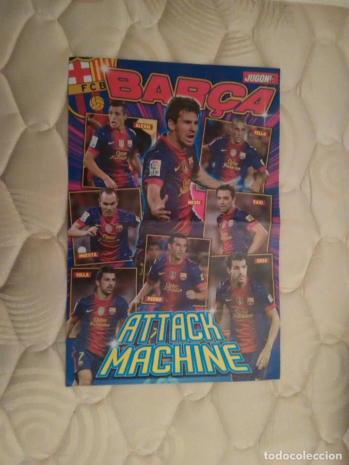 DOBLE PÓSTER 2 PÁGINAS REVISTA JUGÓN. F.C.BARCELONA BARÇA ATTACK MACHINE, SERGIO RAMOS (REAL MADRID) (Coleccionismo Deportivo - Carteles de Fútbol)