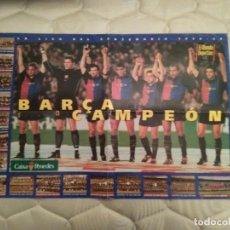 Coleccionismo deportivo: SUPER PÓSTER F.C. BARCELONA, BARÇA CAMPEÓN 1998-1999 LIGA CENTENARIO 98-99 DIARIO MUNDO DEPORTIVO. Lote 95350047