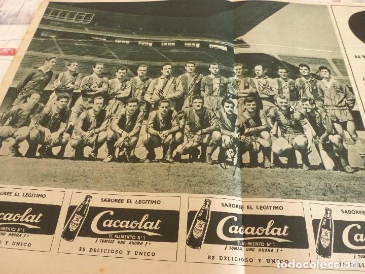 POSTER PLANTILLA F.C.BARCELONA CAMPEON LIGA 1958/59-BARÇA-CON FIRMAS IMPRESAS JUGADORES. (Coleccionismo Deportivo - Carteles de Fútbol)