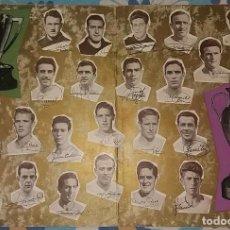 Coleccionismo deportivo: POSTER FELICITACION JUNTA REAL MADRID LIGA Y 3A COPA DE EUROPA 1957. Lote 96191667