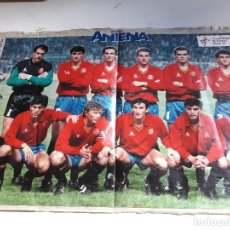 Coleccionismo deportivo: POSTER DE LA SELECCION ESPAÑOLA...ITALIA 90.. Lote 97042471
