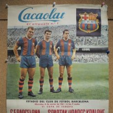 Sammelleidenschaft Sport - Cartel Cacaolat Estadio Barcelona. VI copa de Europa 1961 Spartak - 97106371