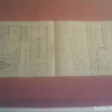 Coleccionismo deportivo: PROGRAMA FUTBOL ENTRE C.D.BARBIERI DE MADRID Y C.D. VILLARROBLEDO 1944. Lote 98569215