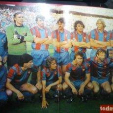 Coleccionismo deportivo: POSTER CENTRAL REVISTA DIEZ MINUTOS F.C.BARCELONA CAMPEON COPA REY 1980.81. Lote 98623263