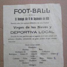 Coleccionismo deportivo: CARTEL FÚTBOL AÑOS 20. ALMAGRO, CIUDAD REAL . Lote 99145067