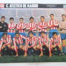 Coleccionismo deportivo: IMPECABLE PÓSTER DE LA PLANTILLA DEL ATLÉTICO DE MADRID, 1971, GRAN FORMATO 67X51 CM, VER FOTOS. Lote 99819975