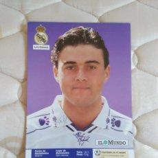 Coleccionismo deportivo: ANTIGUA LAMINA POSTAL 1 PÁGINA MUY RARA: LUIS ENRIQUE CAMISETA DEL REAL MADRID 1994-1995, LIGA 94-95. Lote 99909095