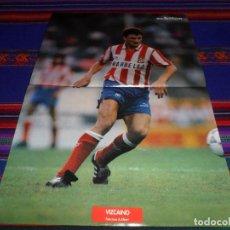 Coleccionismo deportivo: PÓSTER REVISTA DON BALÓN JUAN VIZCAÍNO CLUB ATLÉTICO DE MADRID 1991. CON SU HISTORIAL.. Lote 100287563