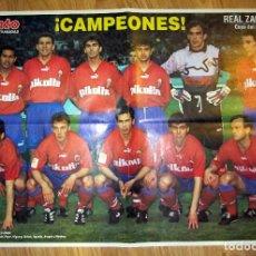 Coleccionismo deportivo: POSTER REAL ZARAGOZA CAMPEON COPA DEL REY 1994. Lote 100539087