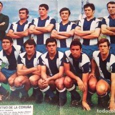 Collezionismo sportivo: POSTER Nº 10 R.C. DEPORTIVO DE LA CORUÑA REV. AS COLOR. Lote 101234915