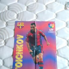 Coleccionismo deportivo: PÓSTER STOICHKOV (F.C.BARCELONA, BARÇA) LIGA ESTRELLAS 96-97 PREMIO CHICLES VIDAL 1996-1997. Lote 101456991