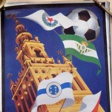 Coleccionismo deportivo: SEVILLA, 1976, CARTEL V TROFEO CIUDAD DE SEVILLA, 46X70 CMS. Lote 101557935
