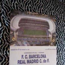 Coleccionismo deportivo: PÓSTER CARTEL CONMEMORATIVO REAL MADRID - F.C.BARCELONA (5-0, MANITA AL BARÇA) LIGA 1994-1995, 94-95. Lote 102652371