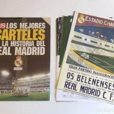 Coleccionismo deportivo: COLECCIÓN COMPETA MEJORES CARTELES HISTORIA REAL MADRID - DIARIO AS. 30 CARTELES + CARPETA. Lote 103274567
