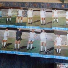Coleccionismo deportivo: 24 CARTEL REAL MADRID AÑOS 70 REVISTA OFICIAL 41X30 CMS CON HISTORIAL DETRÁS. BUEN ESTADO.. Lote 103392555