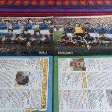 Coleccionismo deportivo: CARTEL SELECCIÓN YUGOSLAVIA Y FRANCIA. MUNDIAL ESPAÑA 82 1982. 40X30 CMS. REVISTA DIEZ MINUTOS.. Lote 103392975